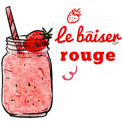 smoothie le baiser rouge