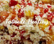 Taboulé de chou-fleur cru healthy