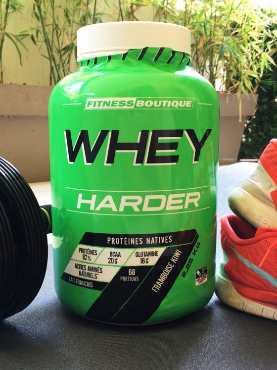 fitness boutique proteine whey harder health easier