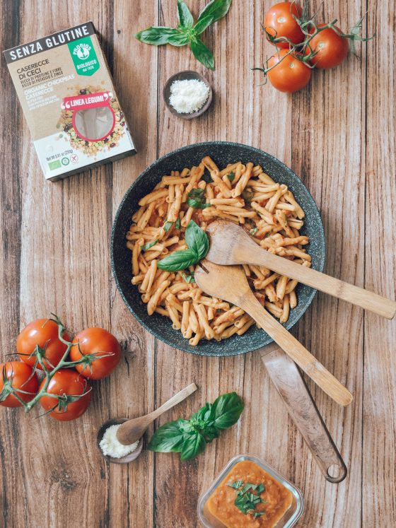 Pâtes sans gluten à la sauce tomate maison