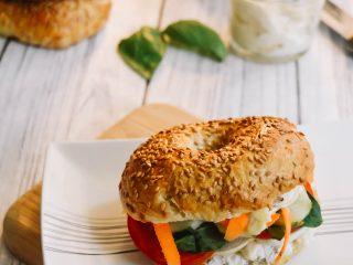 Bagel croustillant et vegan
